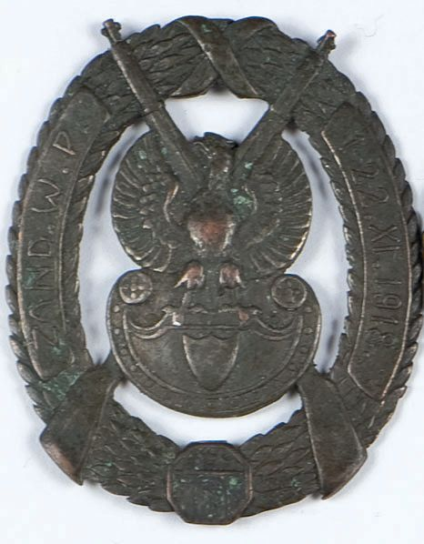 Odznaka Żandarmerii Legionów z napisem: ZAND