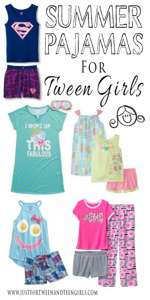 Cute Summer Pajamas For Tween Girls