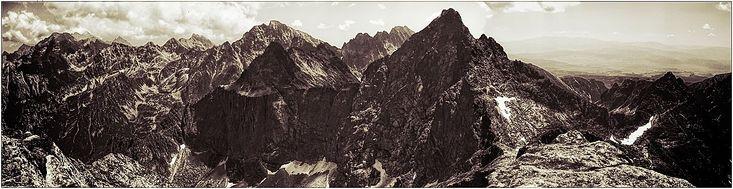 na Rysach w Tatrach - zdjęcia panoramiczne, panoramic photography, krajobrazy górskie,  #zdjęcia #panoramiczne #panoramic #photography #landscapes #Poland #Polska #krajobrazy #góry #Mountains #Tatry #BabiaGóra