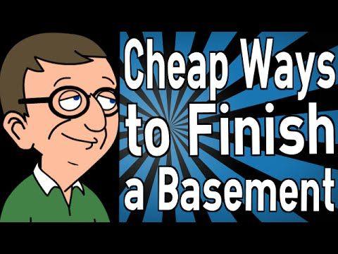 cheap ways to finish a basement youtube faux finished basement pinterest basements. Black Bedroom Furniture Sets. Home Design Ideas