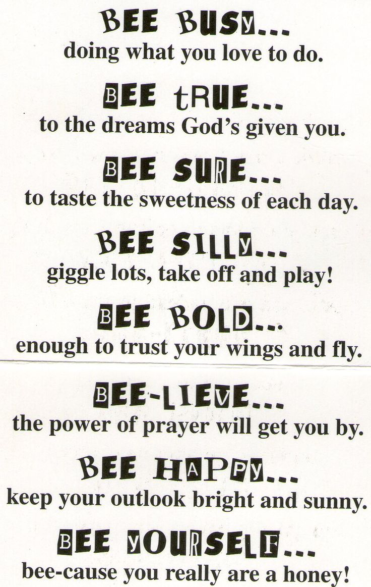 Bee Attitudes- copy onto bee background paper, stick on Popsicle sticks and place in the ground around the tent or camp.