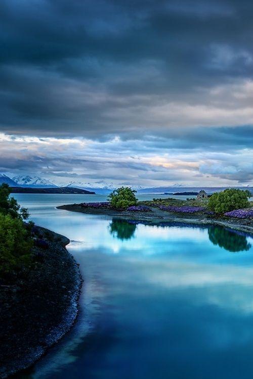 Evening on the Blue Lake Tekapo, New Zealand by Trey Ratcliff