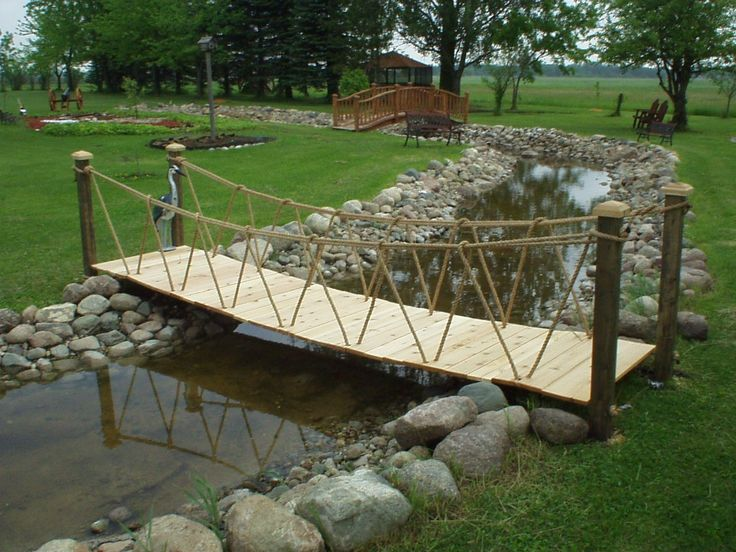 12 best images about bridges over creek on pinterest for Fish pond bridges