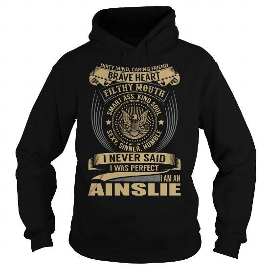 AINSLIE Last Name, Surname T-Shirt T-Shirts, Hoodies (39.99$ ==► BUY Now!)