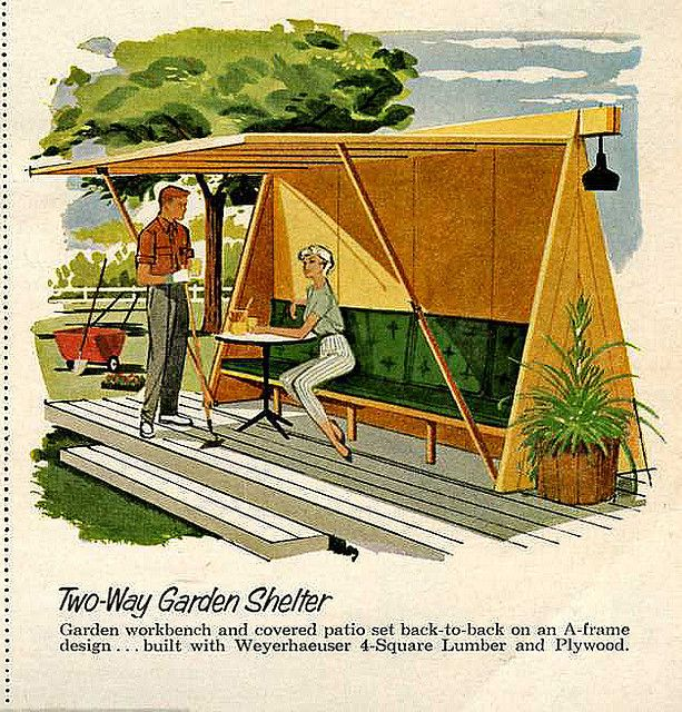 Mid-Century Outdoor shelter- Well isn't this just the cutest thing ever!!