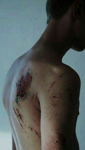"""""""What happened?"""" She asked, examining the scratched marks on his collarbones.  """"It's nothing,"""" he waved her off. """"that's all."""""""