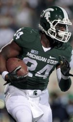 Contrary to a widely held assumption, Le'Veon Bell hasn't decided whether he'll play football at Michigan State next fall or leave early for the NFL. Bell has barely had time to begin a list of pros vs. cons for either choice let alone chisel a declaration in stone, and as the process plays out, he will find that the reasons for staying have just as much merit as those for going, head coach Mark Dantonio said Wednesday. 12.13.12 #spartans