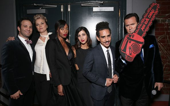 LR Executive Producer Craig DiGregorio Lucy Lawless Jill Marie Jones Dana deLorenzo Ray Santiago and Bruce Campbell attend the after party for the...