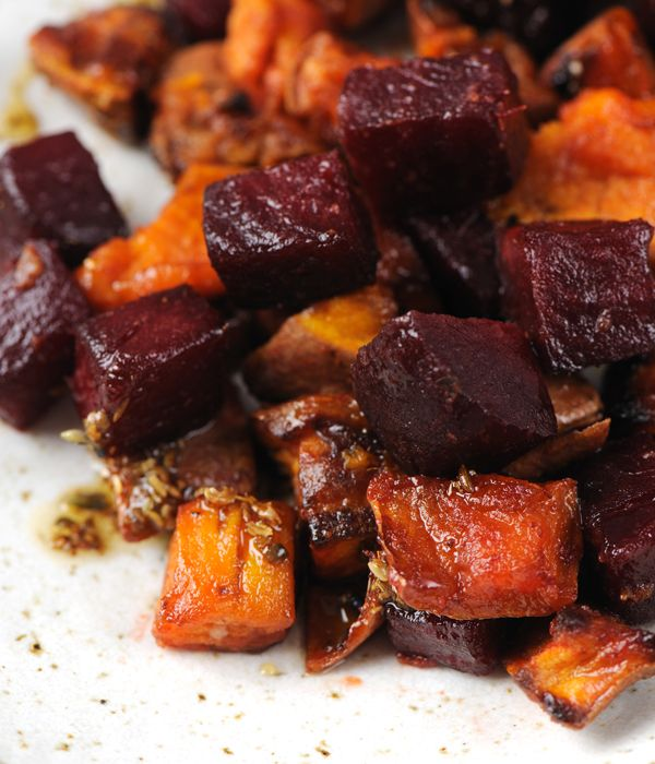 Sweet and earthy, this sumptuous roast vegetable recipe with beetroot and sweet potato provides a side dish which will complement a range of gamey meats. - James Sommerin