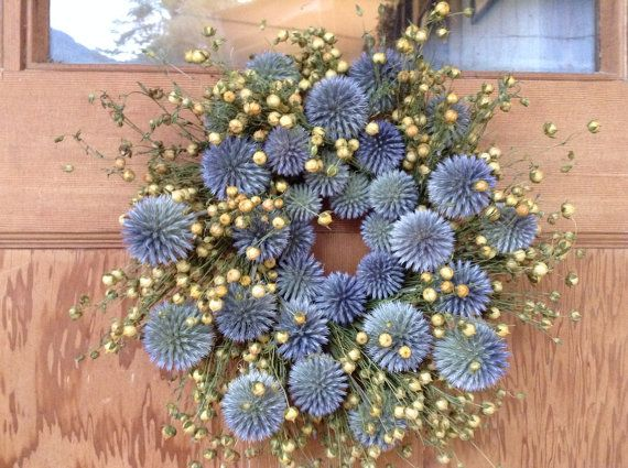 Organic Wreath. Dried Flower Wreath. by SoulLovin on Etsy, $43.00