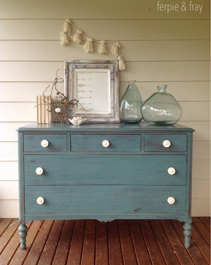 Dresser paint in Kitchen Scale (Miss Mustard Seed Milk Paint) by Ferpie and Fray