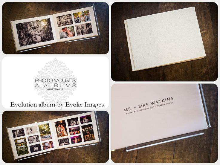 Traditional Matted Wedding Al By Evoke Images With A White Ostrich Cover Finished Off Feature Printed Vellum Page