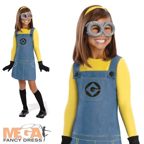 Girls Despicable Me Minion Childrens Fancy Dress Kids Movie Character Costume | eBay