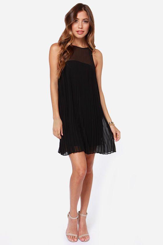 Pleat Street Fair Black Dress at Lulus.com!