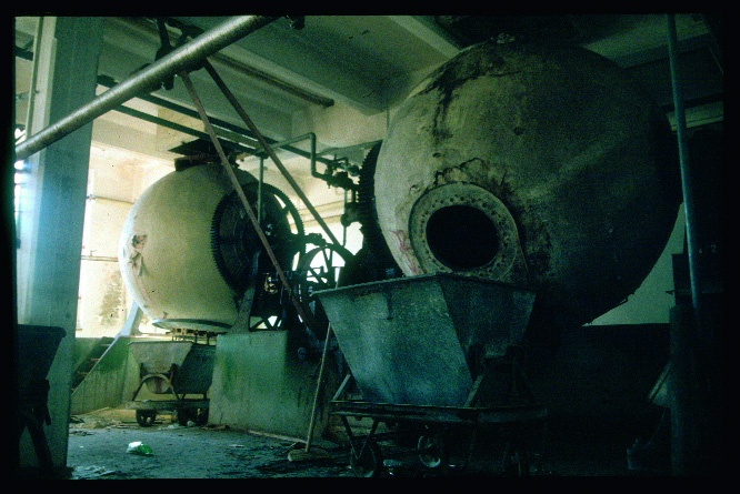 abandoned industrial site interiors
