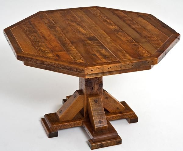 Small Enough For Two, Yet Expandable To Eight, The Barnwood Octagon Dining  Tableu0027s Pedestal