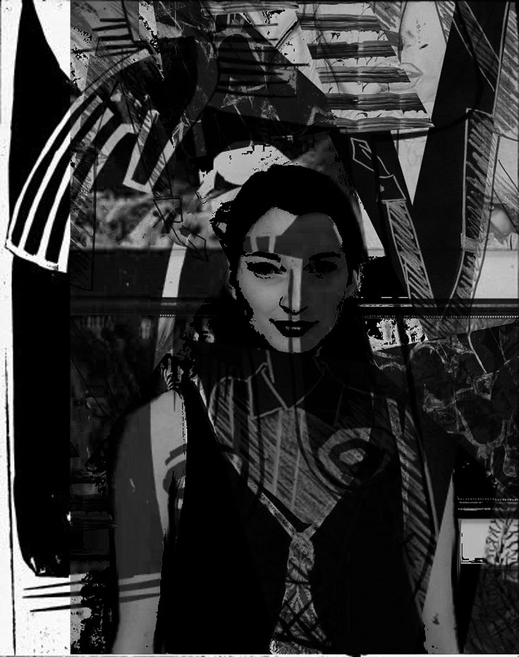 """Title: """" Virginie in black and white"""" (2017)"""