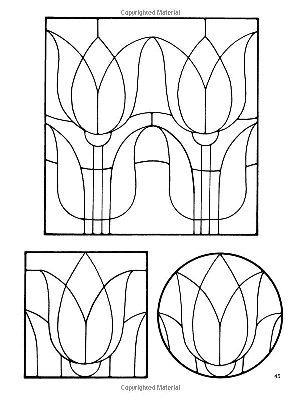 Amazon.com: Floral Stained Glass Pattern Book (Dover
