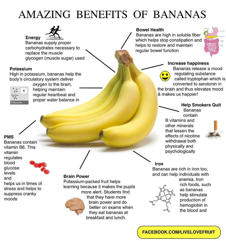"Gives brain power? Sign me up! FoodMatters.tv: 25 POWERFUL REASONS TO EAT BANANAS - You'll never look at a banana the same way again after discovering the many health benefits and reasons to add them to your diet. -- Claims: ""Bananas combat depression, make you smarter, cure hangovers, relieve morning sickness, protect against kidney cancer, diabetes, osteoporosis and blindness."""