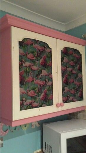 Loving my new shabby chic flamingo cupboard ive just finished.x