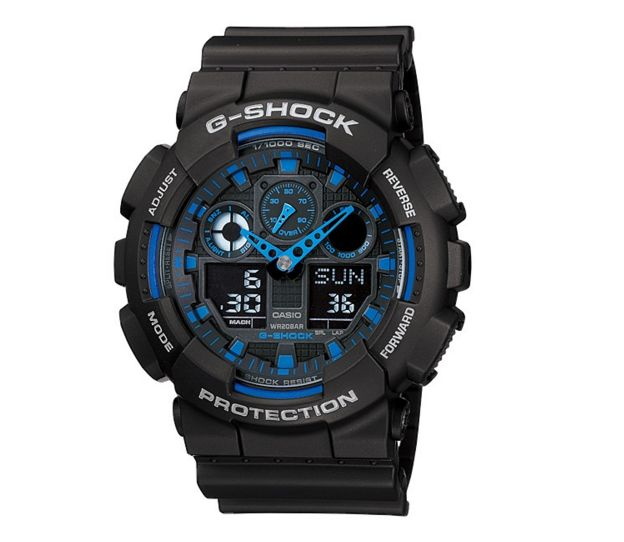 Buy Casio G-Shock Men's GA100-1A2ER Black Chronograph Watch from our Men's Watch range at The Watch Dealer. Quality guaranteed with our 2 year The Watch Dealer Warranty on all watches.