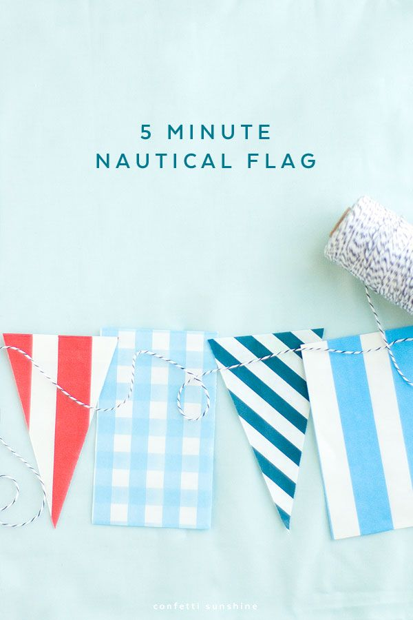 5 minute Nautical Flags DIY