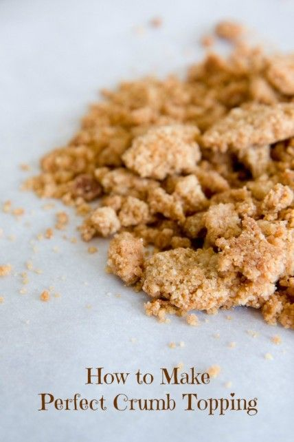 How to make the perfect crumb topping from The Cupcake Project