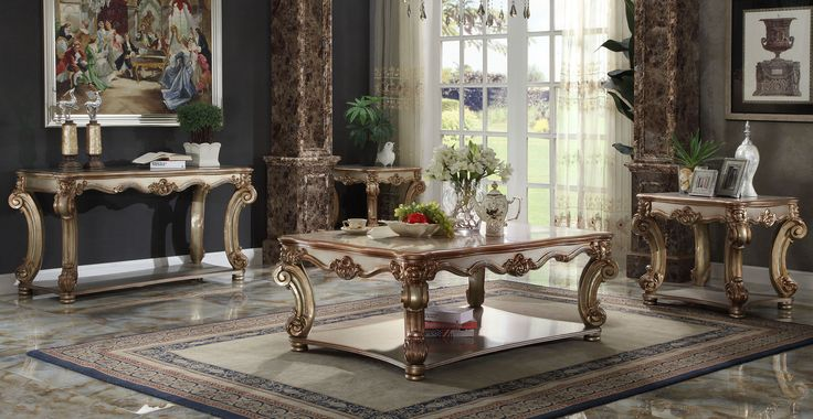 Vendome Gold Patina Occasional Table Collection