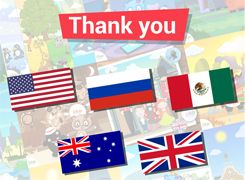Parents and children of USA, Russia, Mexico, Australia and UK, thank you for embracing the Lipa Learning philosophy. You are leading the way and changing education around the world with us.