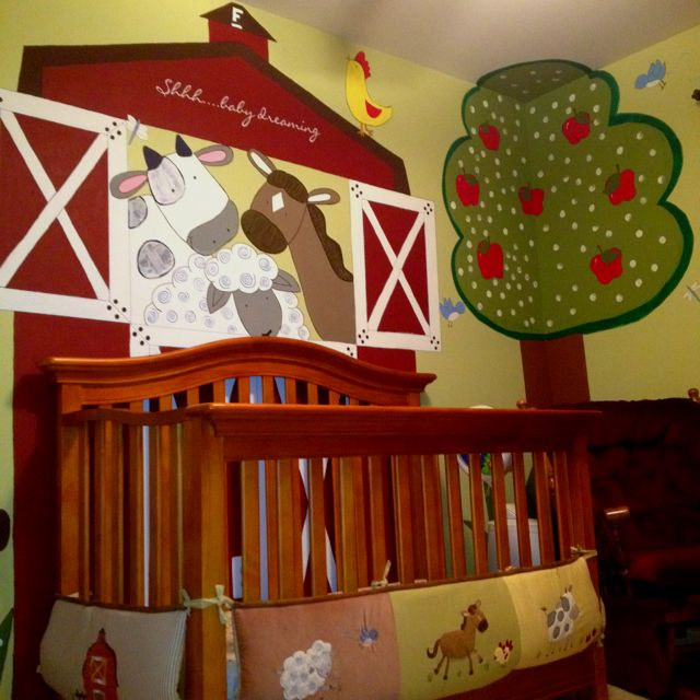 Baby Farm Animal themed nursery
