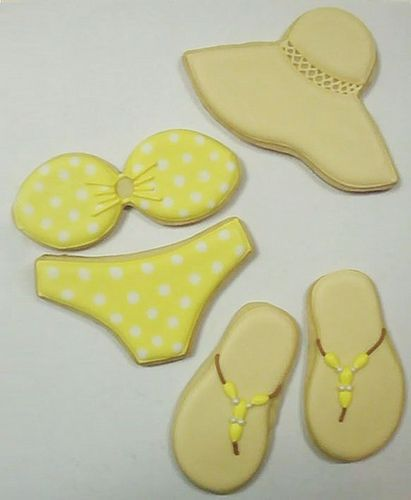 pool themed cookies