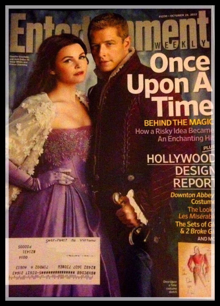 ONCE UPON A TIME Entertainment Weekly Ginnifer Goodwin Joshua Dallas October 012