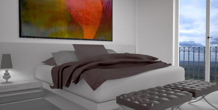 Dormitorio matrimonial interior design piso en el for Oficina empleo oviedo