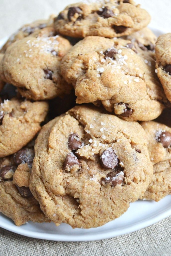 brown butter sea salt chocolate chip cookies.