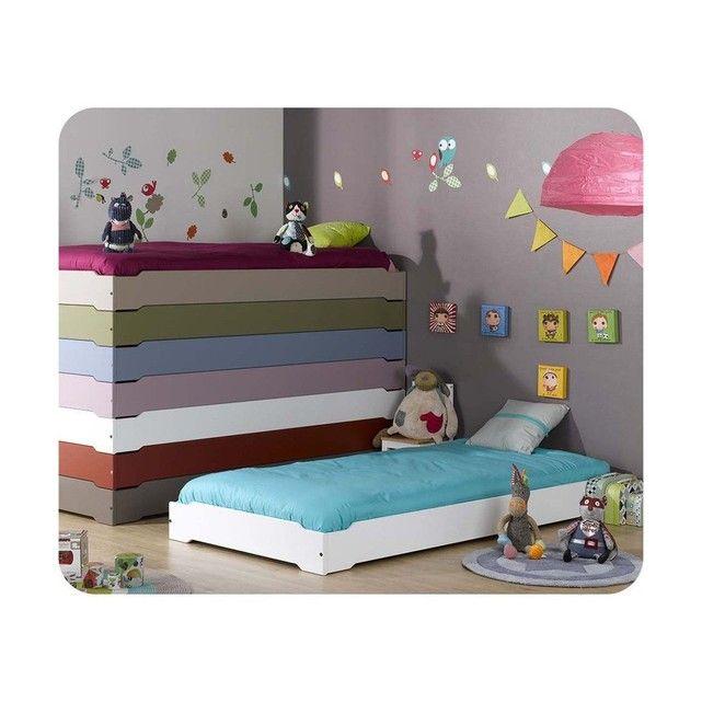 lit enfant empilable 90x190 cm avec