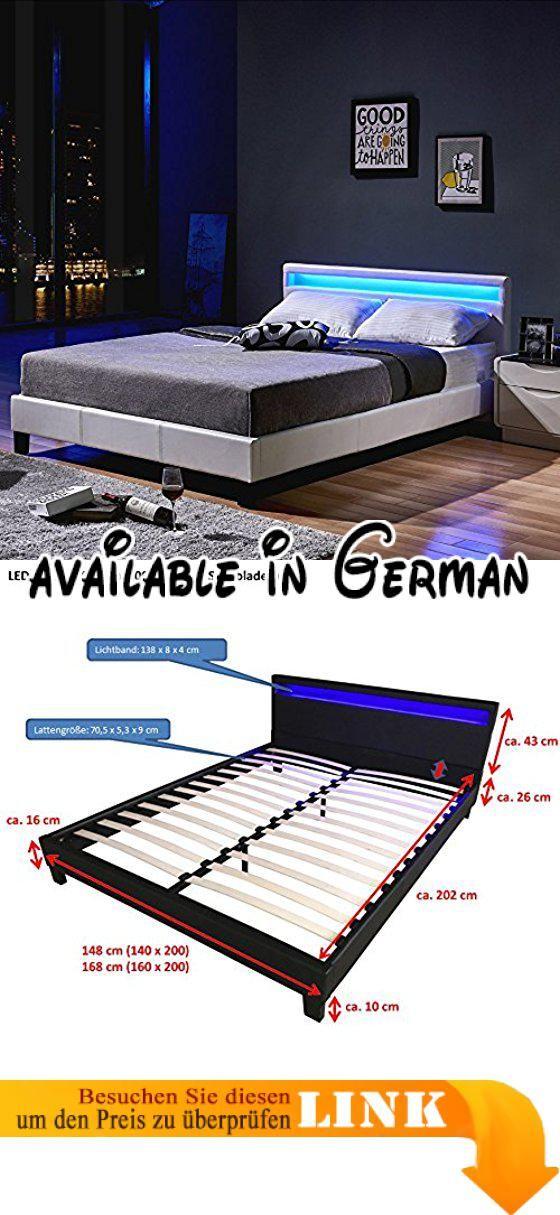 B071d8b4k9 Home Deluxe Led Bett Astro Weiss Verschiedene