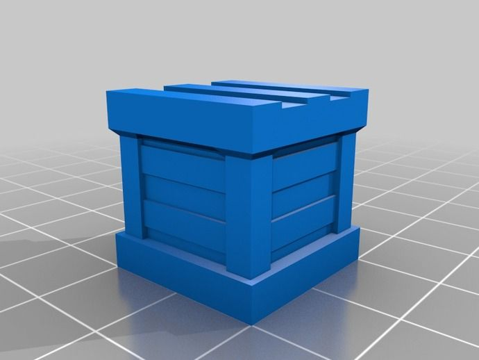 D&D Prop - Chamfered Crate by MilesWilford - Thingiverse