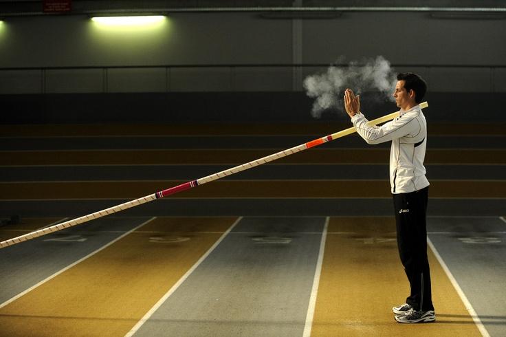 Renaud Lavillenie, french pole-vaulter