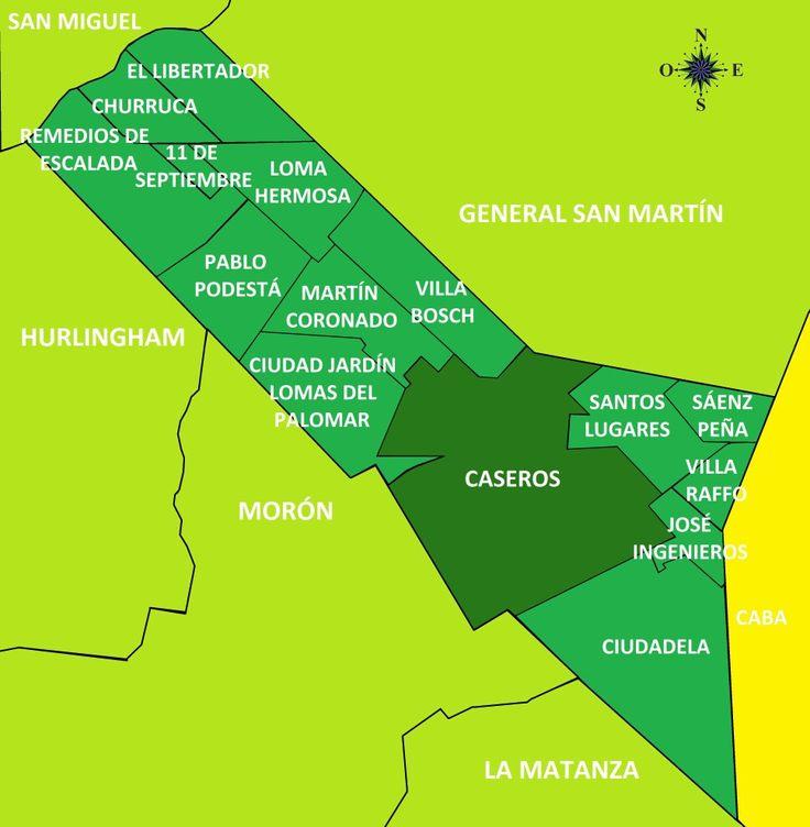 Mapa de Tres de febrero . Mapa de Tres de febrero con todas sus localidades