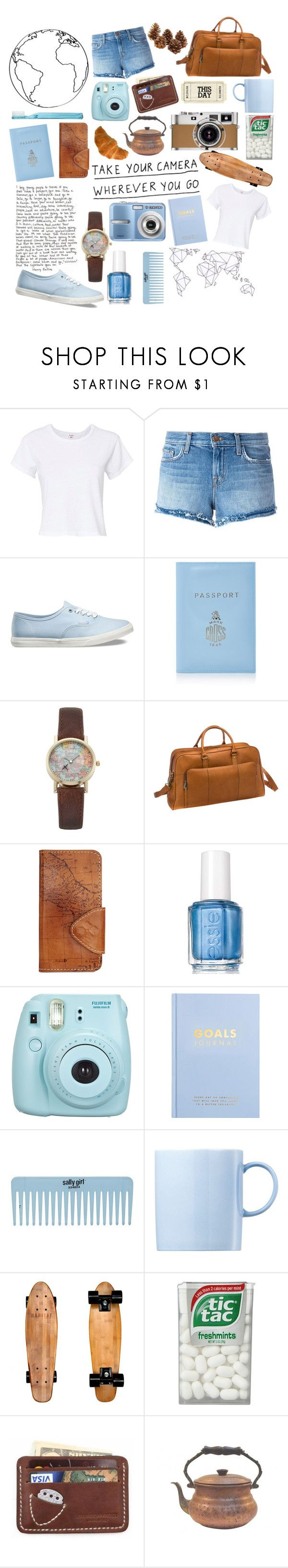 """Take your camera wherever you go, you never know what you might see"" by rather-be-surfing ❤ liked on Polyvore featuring RE/DONE, J Brand, Vans, Mark Cross, Vivani, Le Donne, Patricia Nash, Essie, Fujifilm and kikki.K"