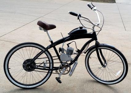 80cc Gas Bike Dewey Bicycle With Engine Stretch Street Cruiser Motorized Motor Motored Bicycles Motorised