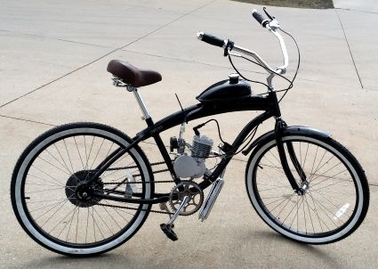 80cc dewey bicycle with engine stretch street cruiser. Black Bedroom Furniture Sets. Home Design Ideas