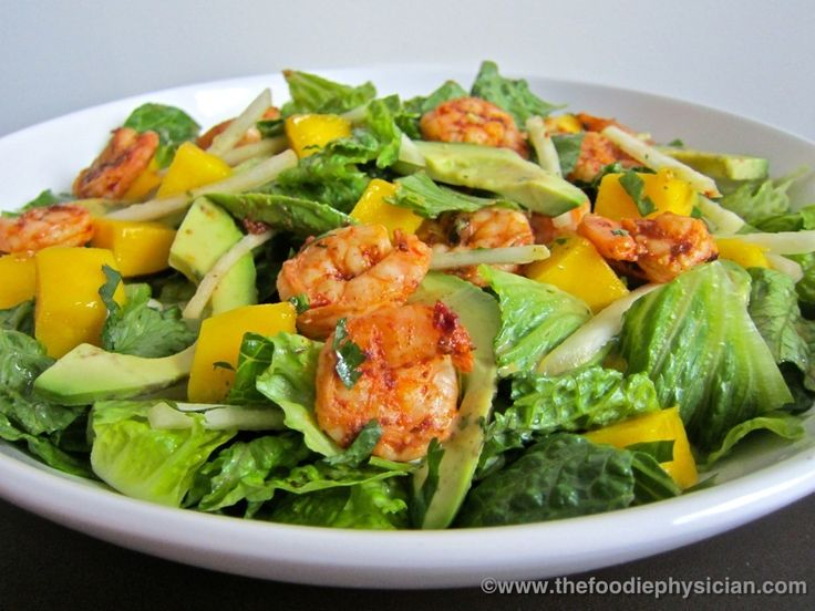 The Foodie Physician: Dining with the Doc: Tropical Shrimp Salad with Honey Chipotle Dressing