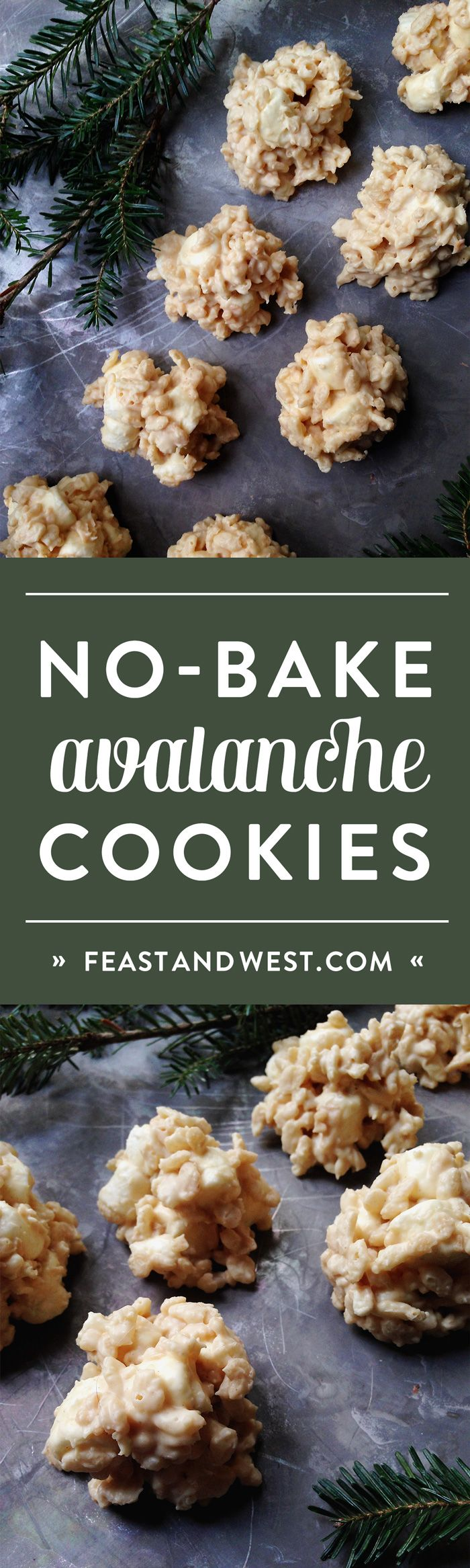 No-Bake Avalanche Cookies are a quick and easy holiday cookie you can make in a pinch. With just five ingredients, these Christmas cookies will be ready in a snap! (via feastandwest.com)