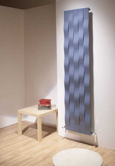River radiator in blue is inspired by the ripples and waves of water.