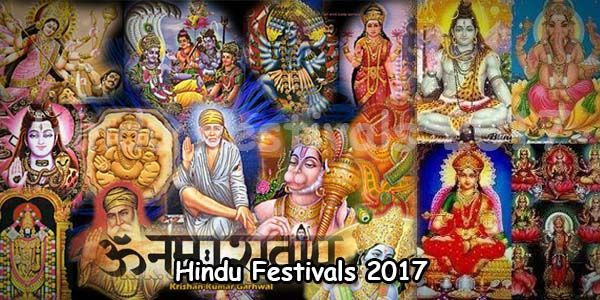 2017 Hindu Festivals, Indian Festivals List | Temples In India Info