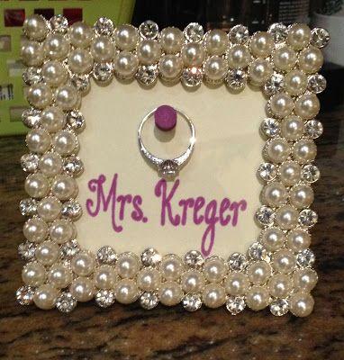 Engagement gift/ring frame