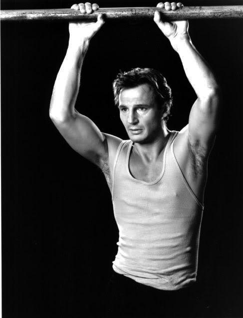 Liam Neeson...He's obi wan kenobi, lead the A Team, AND he trained Batman... yeah he's a badass