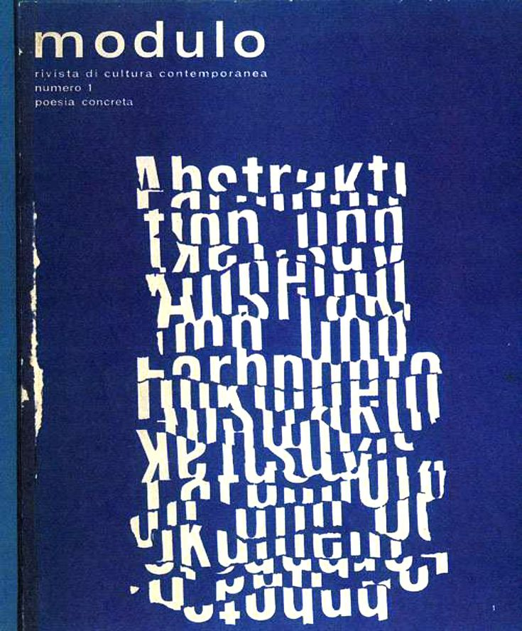 «Modulo» / Modulo, Edited by Arrigo Lora Totino, single issue, 1966 #LogoCore