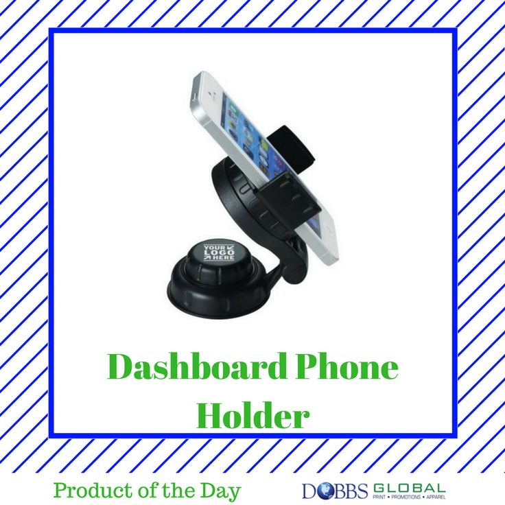 Dashboard Phone Holder- When sending an employee traveling, provide them with these dashboard phone holders so they can focus on the driving and arrive safely instead of constantly looking between the phone and road for directions. #productoftheday #business #logo #brand #branding #marketing #dobbsglobal #promotionalproducts #print #apparel #jax #jacksonville #staugustine #staug #duval #stjohns #fl